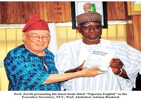 Prof. Jowitt Presents 'Nigerian English' to Prof. Rasheed
