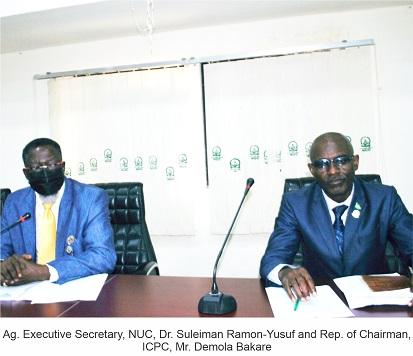 ICPC Inducts NUC ACTU Staff